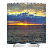 Crash Boat Beach  Shower Curtain