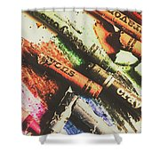 Crash Test Crayons Shower Curtain