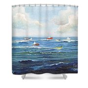 Crashboat Beach Shower Curtain