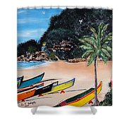 Crashboat Beach I Shower Curtain