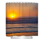 Crashing Calm Shower Curtain by Kelley King