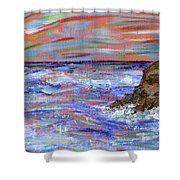 Crashing Of The Waves Shower Curtain