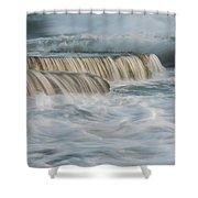 Crashing Sea Waves And Small Waterfalls Shower Curtain
