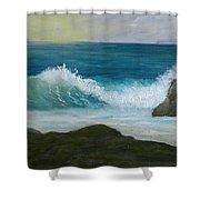 Crashing Wave 3 Shower Curtain