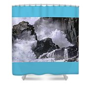 Crashing Wave At Quoddy Shower Curtain