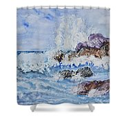 Crashing Wave IIi Shower Curtain