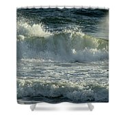 Crashing Wave Shower Curtain by Sandy Keeton