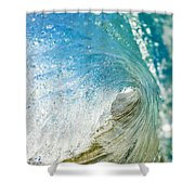 Crashing Wave Tube Shower Curtain