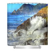 Crashing Waves 100 Shower Curtain