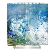 Crashing Waves Against The Shore Shower Curtain