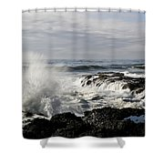 Crashing Waves At Cape Perpetua Shower Curtain