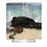 Crashing Waves At Sugar Beach Shower Curtain