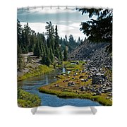 Crater Creek, Oregon Shower Curtain