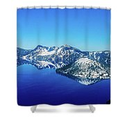 Crater Lake Blue Shower Curtain
