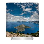 Crater Lake From Watchman Overlook Shower Curtain