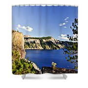 Crater Lake II Shower Curtain
