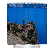 Crater Lake Point Overlook Shower Curtain
