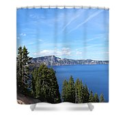 Crater Lake View  Shower Curtain