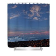 Crater Sunset Shower Curtain