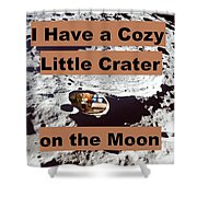 Crater1 Shower Curtain