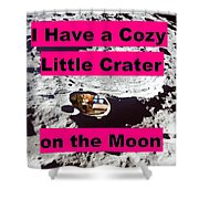 Crater12 Shower Curtain