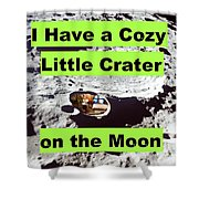 Crater18 Shower Curtain