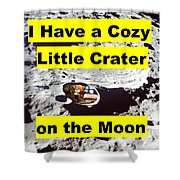 Crater4 Shower Curtain