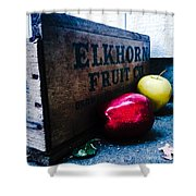 Crates Of Apples Shower Curtain