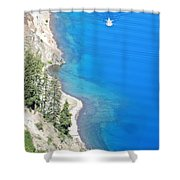 Crator Lake Shore Shower Curtain