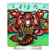 Crawfish Band Shower Curtain