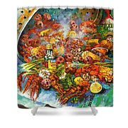 Crawfish Time Shower Curtain
