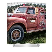 Crawford Fire Truck  Shower Curtain