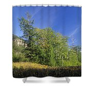 Crawford Notch State Park - Frankenstein Cliff White Mountains Nh Usa Shower Curtain