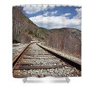 Crawford Notch State Park - Maine Central Railroad Shower Curtain