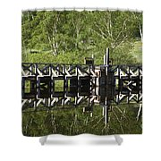 Crawford Notch State Park - Willey Pond White Mountains Nh Shower Curtain