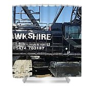 Crawler Crane Hire In London And Kent Shower Curtain