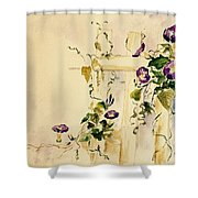 Crawling Flowers Shower Curtain