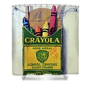 Box Of Crayons Painting Shower Curtain