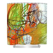 Crayon Scribble#3 Shower Curtain