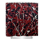 Crazy About Red Shower Curtain