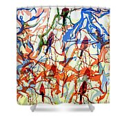 Crazy Cardinals Shower Curtain