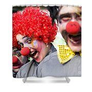 Crazy Circus Clowns Shower Curtain
