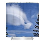 Crazy Clouds Shower Curtain
