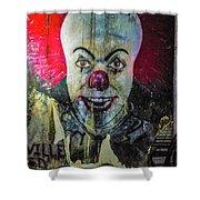 Crazy Clown Shower Curtain