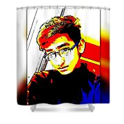 Crazy Colours Shower Curtain