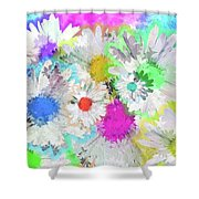 Crazy Daisies Shower Curtain