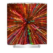 Crazy Fun Colorful Abstract Shower Curtain