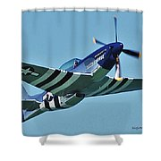 Crazy Horse From Air Show Shower Curtain