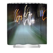 Crazy Lights Shower Curtain