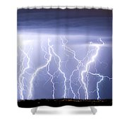Crazy Skies Shower Curtain